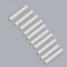 10pcs Real Bone Ukulele Nut 4 String Slotted 38mm x 6mm x 5.2mm