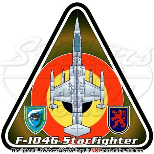 F-104 STARFIGHTER BELGIUM Lockheed-SABCA F-104G Belgian Air Force Sticker Decal