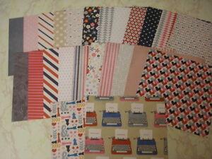 LOVE MAIL 6X6 PATTERNED PAPER SCRAPBOOK CARDS VALENTINE LOT