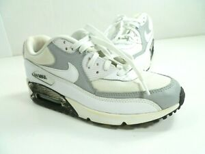Details about Nike Air Max 90 Essentials 325213 126 White Grey Black Running Shoes Size 9.5