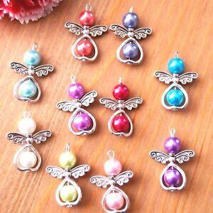 10-20-Mix-Angel-Charms-Pendant-Metal-Heart-Pearl-Beads-Xmas-Tree-Decoration