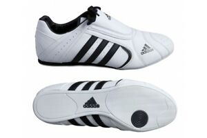 Adidas-Adi-SM-3-Taekwondo-Shoes-Adult-Martial-Arts-Trainers-White-Slip-On-Shoes