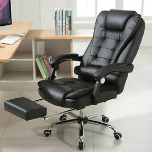 Racing-Gaming-Chair-Ergonomic-Leather-Swivel-Office-Computer-Desk-Seat-Footrest