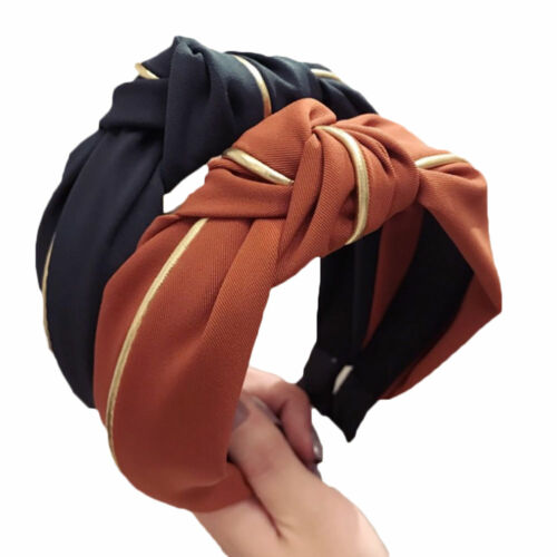 Women Velvet Headband HairBand Bow Knot Turban Wide Headwrap Hair Accessories