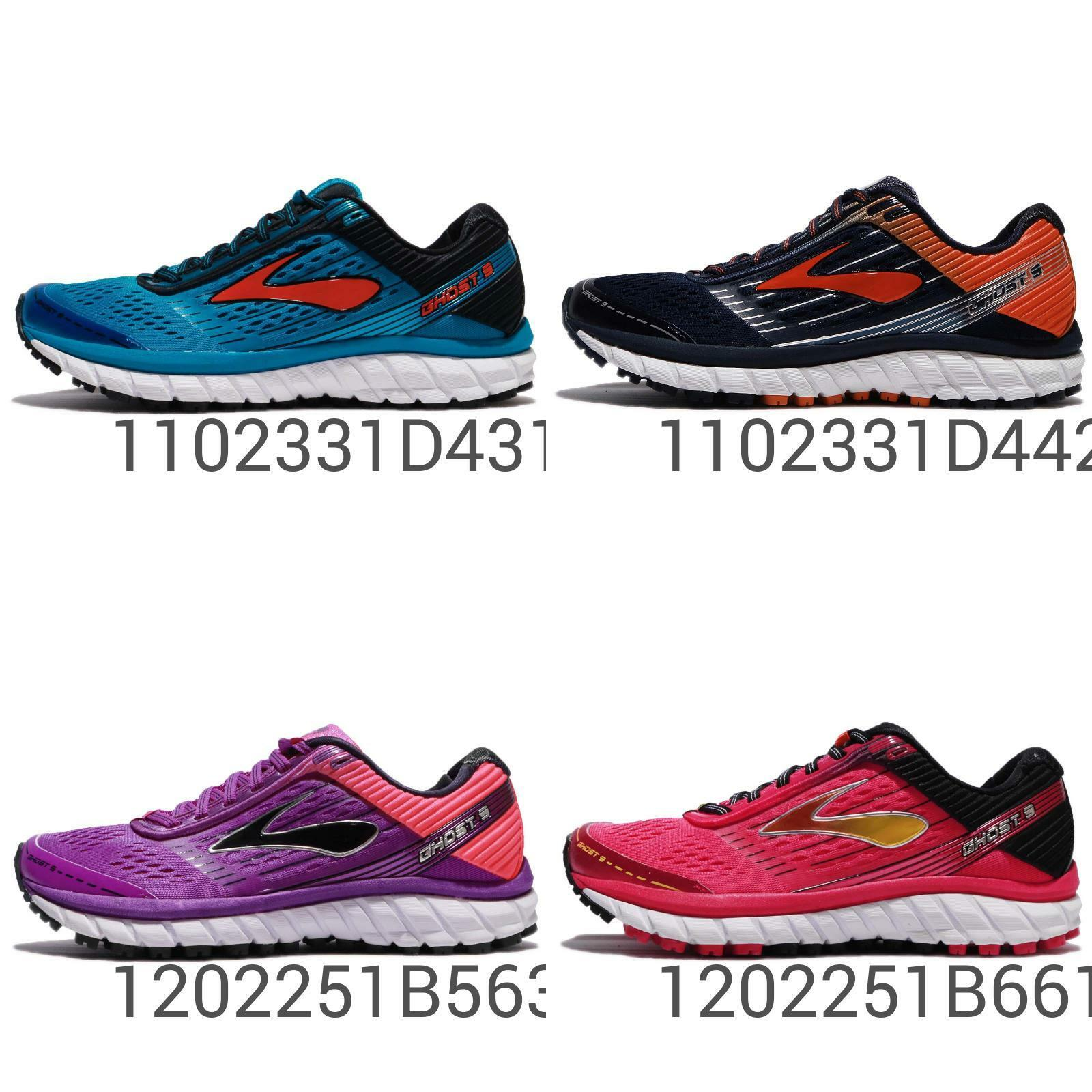 Brooks Ghost 9 hommes femmesNeutral Cushion RunningChaussuresSneakers Pick 1
