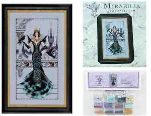 MIRABILIA-Cross-Stitch-PATTERN-and-EMBELLISHMENT-PACK-Raven-Queen-MD139