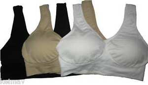 Lot-of-10-The-Perfect-Bra-Seamless-Padded-brassiere-with-Pads-As-Seen-on-TV-ahh