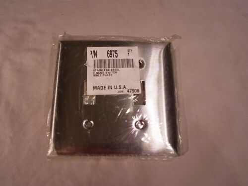Stainless Steel 2 Gang Switch Wall Plate 6975
