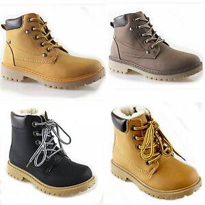 Nuevo-Ninos-Jovenes-Ninas-Nieve-Invierno-botas-botas-de-invierno-forrado