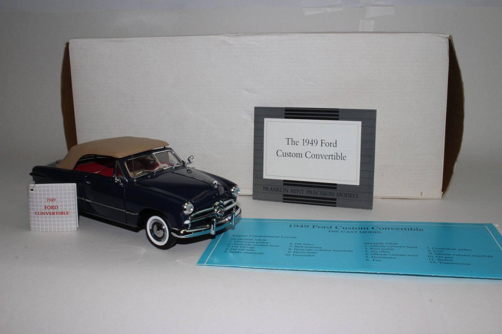 Franklin Mint 1949 Ford Convertible avec Boite