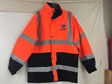 Class 3 Waterproof Parka ANSI Reflective Firefighter EMT Jacket Safety Orange