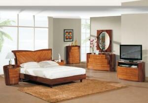 Swell Details About New York King Queen Size Modern Kokuten Glossy Bedroom Set 5 Pcs Download Free Architecture Designs Rallybritishbridgeorg