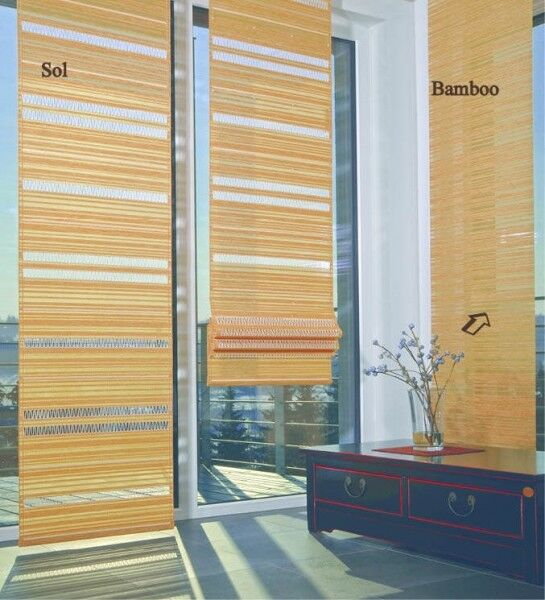 Bamboo Rideau faces Rideau Bamboo Viora coulissant rideau broderie 69f343