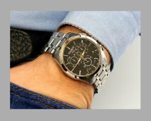 TISSOT-T0356171105100-Black-Dial-Swiss-Quartz-Chronograph-Couturier-Men-039-s-Watch