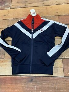 Fila-Womens-Faith-Track-Jacket-Size-XS-New-NWT-Full-Zip-Red-White-Blue