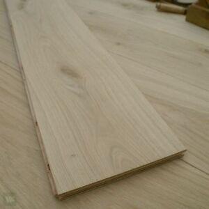 22CM Wide Oak Floorboards - Engineered Natural Wood Flooring - Unfinished ECH2N