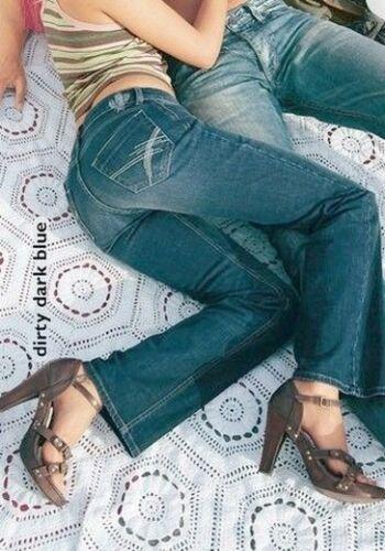 Arizona Jeans Gr.32 L32 NEU Damen Hose Dirty Dark Blue Used Stretch Straight AJC