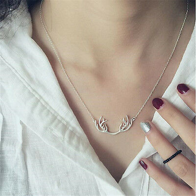 1 Pc Deer Horn Short Clavicle Necklace Antlers Simple Stylish Jewelry Decoration