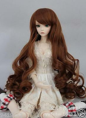 "New Womens Toys Wigs BJD Doll Hair Wig 8-9"" 1/3 SD DZ Doll LUTS Long curls Wigs"