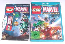 "Nintendo Wii U WIIU gioco ""LEGO MARVEL SUPER HEROES"" COMPLETO"