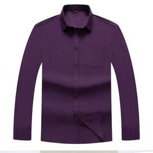 8 Farben Herren 2XL-10XL Shirts Freizeithemd Business Bräutigam Klassisch Hemd D