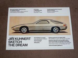 Jiri-KUHNERT-2018-Porsche-928-designer-Art-Exhibition-Karte-card-15x21-cm