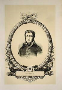 *portrait General Moreau Dresde Napoleon Empire C1840*