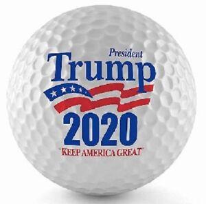 New Golf Equipment 2020 1 Dozen Titleist Pro V1 (Trump 2020 Keep America Great Logo) Golf