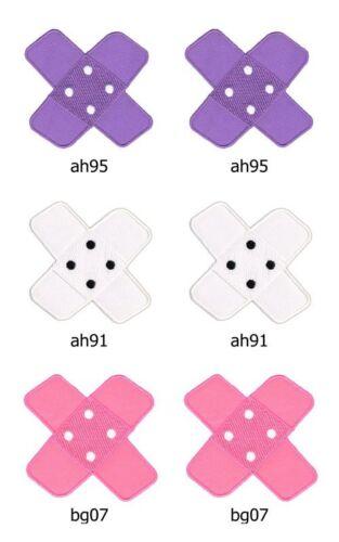 Set #076 parche Patch 6 trozo de perchas imágenes Patch aplicación lila blanco rosa