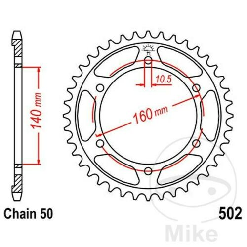 JT Rear Sprocket 46T 530P JTR502.46 Steel Kawasaki GPZ 1100 E 19961997
