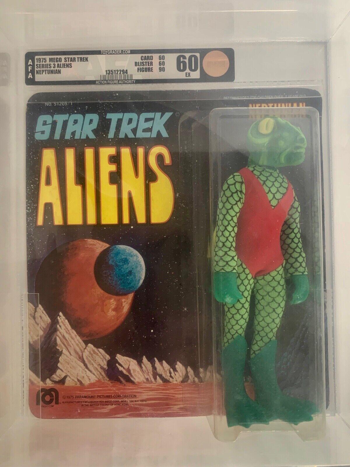 Star Trek Vintage MEGO AFA Graded  60  NEPTUNIAN  1975 - MOMC UnPunched