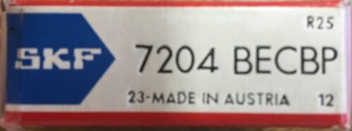 mm 10x 7204-BECBP SKF Angular Contract Ball Bearing 20X47X14
