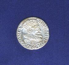 POLAND POSEN SIGISMUND 1594 3 GROSCHEN/GROSSUS)(TROJAK) SILVER COIN UNCIRCULATED