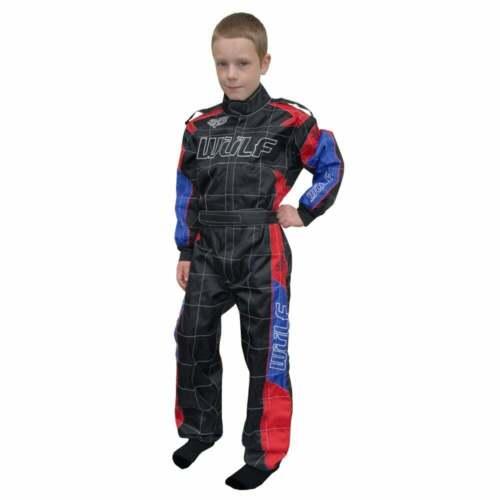 Wulfsport CUB niños Grand Prix Go Kart Quad Bike Race Suit-Negro//Azul//Rojo