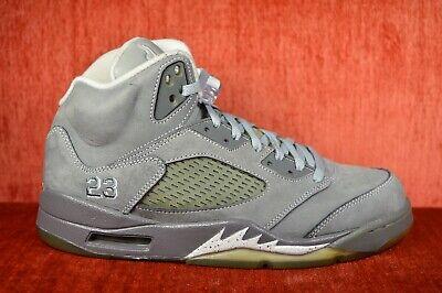 purchase cheap cc390 27817 CLEAN Jordan 5 Retro V Wolf Grey White Black Metallic Cement 136027-005  Size 8.5 | eBay