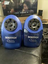 Stanley Bostich Quiet Sharp 6 Commercial Electric Pencil Sharpener Blue Lot Of 2