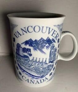 Coffee-Cup-Mug-Vancouver-Canada-Blue-White-Souvenir-Meaning-Of-Vancouver