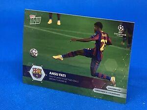 TOPPS NOW CHAMPIONS LEAGUE 2020/21 ANSU FATI FC BARCELONA