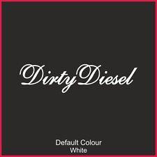 Dirty Diesel Decals x2, Vinyl, Sticker, Graphics, Car, JDM, EURO, Funny, N2203