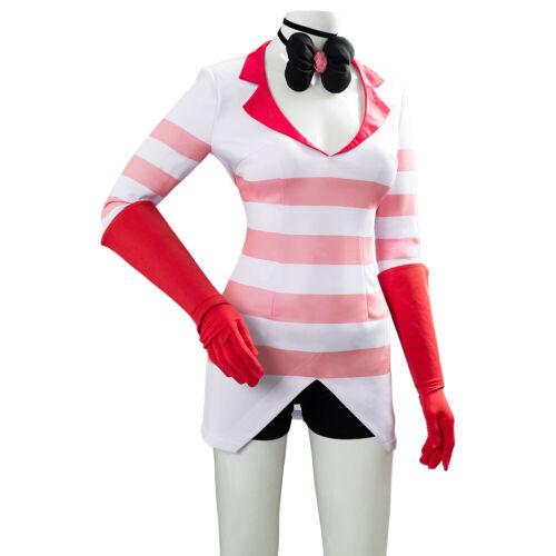 Outfit Costume Hazbin Hotel Angel Dust Angeldust Cosplay Pink Female Costume