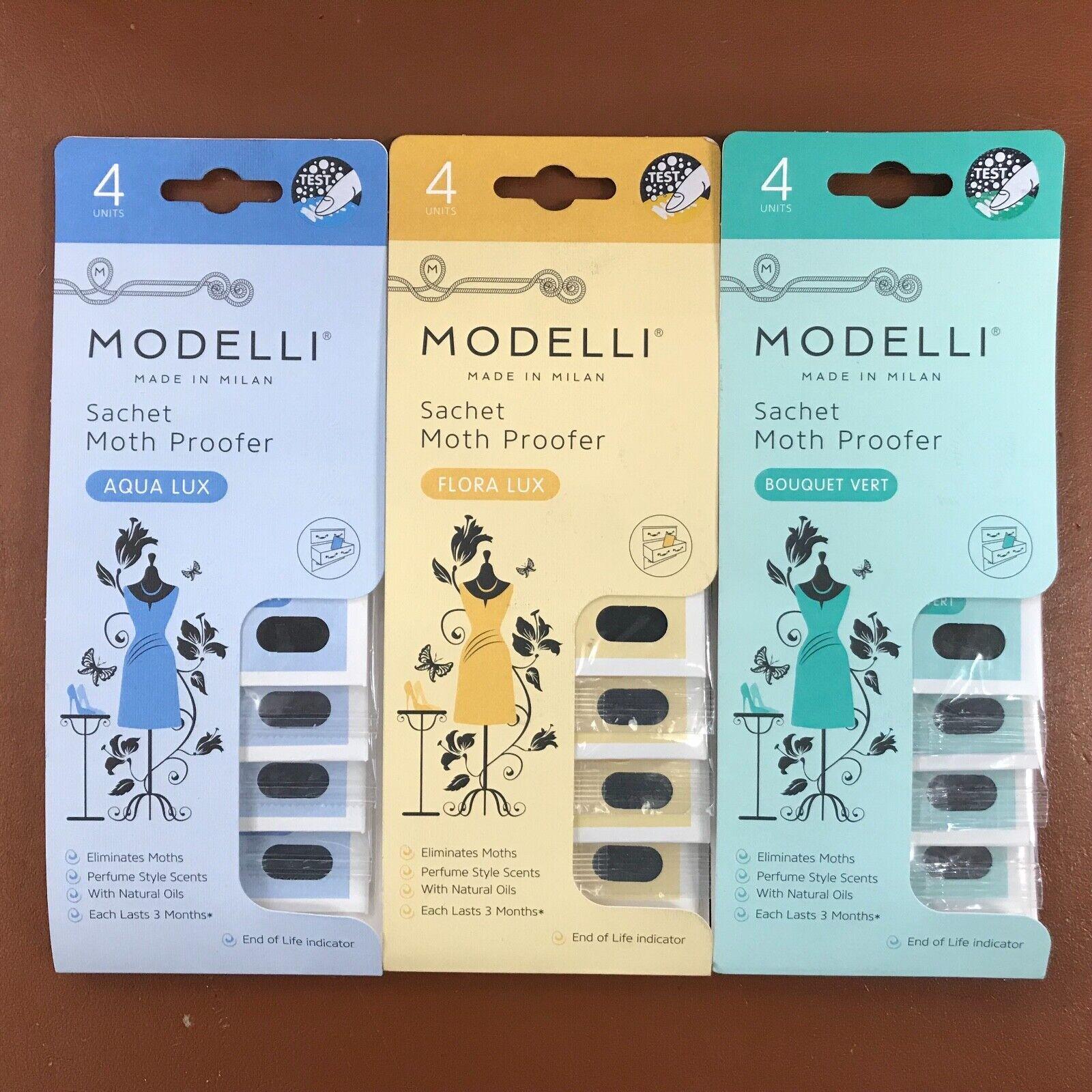 Modelli Moth Repeller Flora Lux Killer Freshener Fabric Repellent Pest 4 Sachets