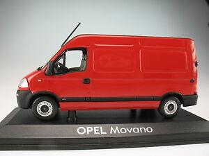 Norev-Opel-Movano-rojo-1-43-nuevo-en-OVP-coche-modelo-transporter
