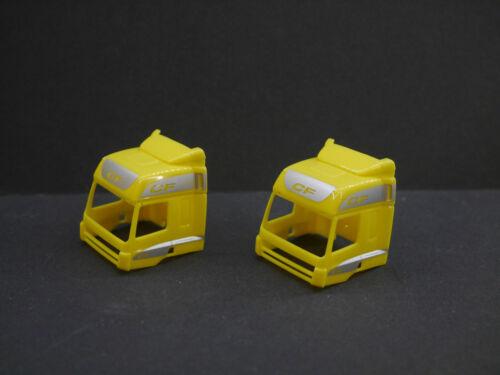 1:87 Herpa EM6031 2x DAF CF Karosse gelb bedruckt NEU für Umbau Eigenbau