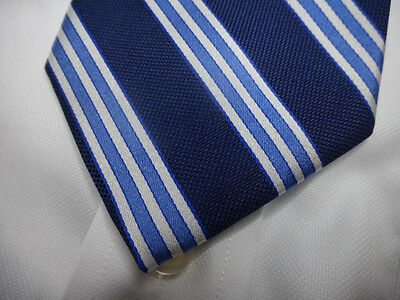 NWT! BROOKS BROTHERS Navy Blue Repp Stripe Silk Tie ~ MSRP $79.50 ~ NEW