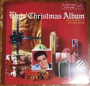 ELVIS PRESLEY: 🇺🇸 THE CHRISTMAS ALBUM VINYL LP RCA VICTOR NEAR MINT RECORD