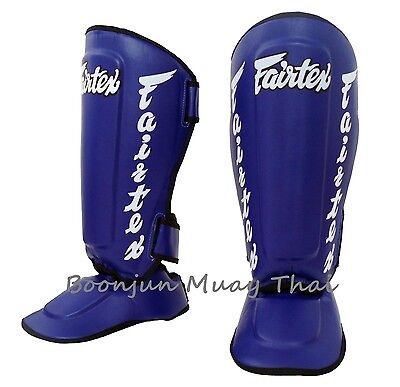 Fairtex Twister Shin Guards SP7 Muay Thai Boxing MMA Detachable Shin Pad Red