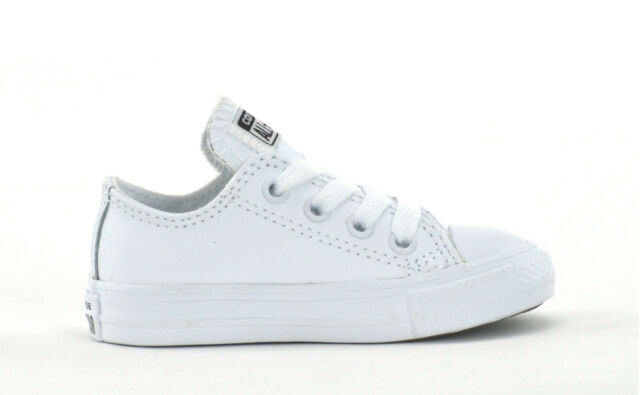 d513370e735 CONVERSE CT OX LEATHER - TRIPLE WHITE - INFANTS SNEAKERS - 735891C - BRAND  NEW