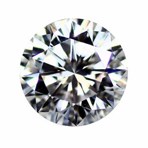Loose-Moissanite-Gemstones-Round-Brilliant-Cut-Hearts-amp-Arrows-VVS1