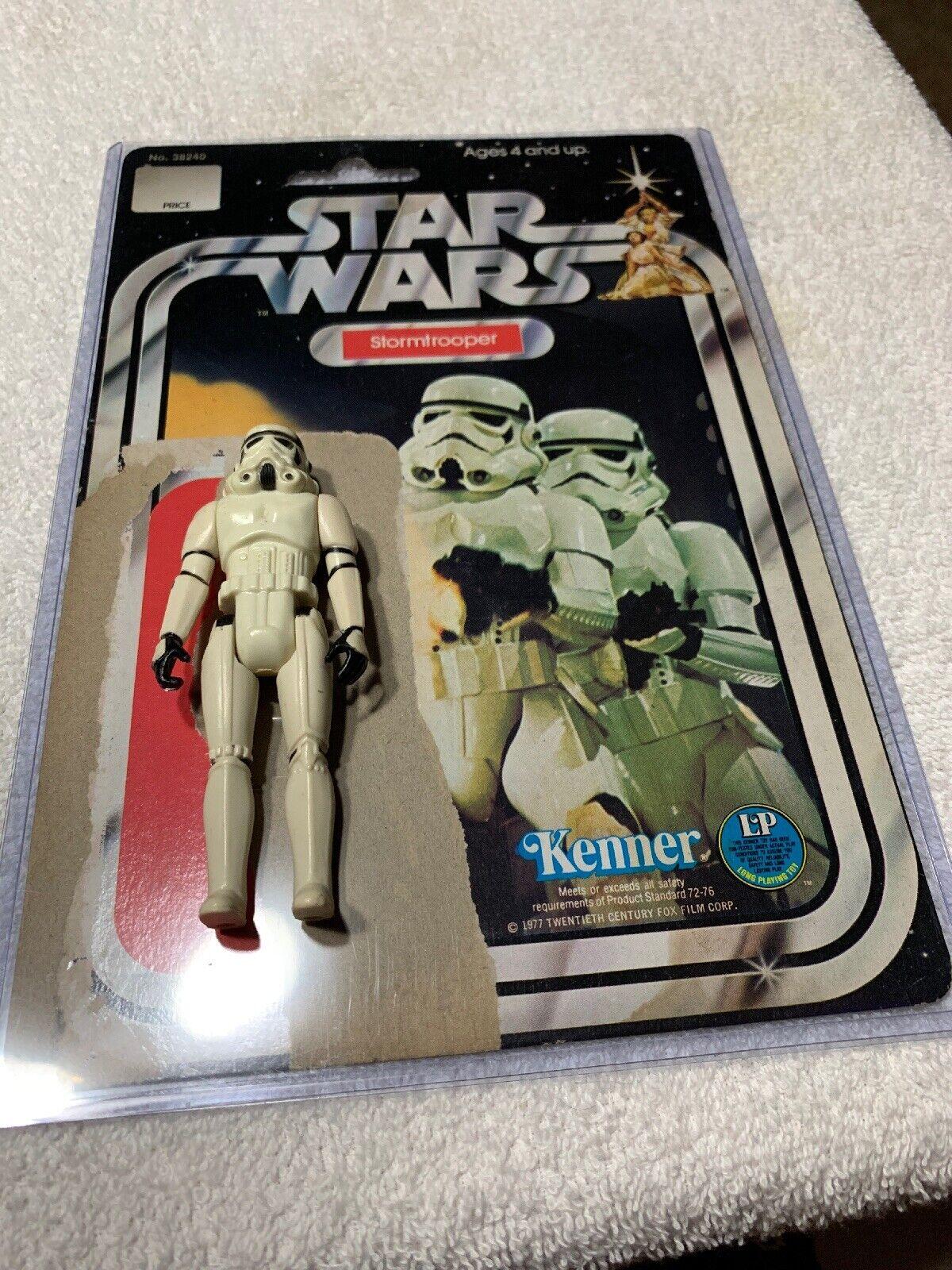 Star Wars Vintage Stormtrooper w  12C Cardback Really Nice Condition