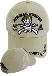 be91191fc Details about US Army SPECIAL FORCES Ball Cap Ranger Airborne Green Beret  SHADOW Hat Tan KHAKI